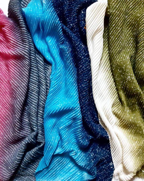 خرید اینترنتی شال طیفی پلیسه نخی خوشگلمون در رنگ های متنوع و شاد